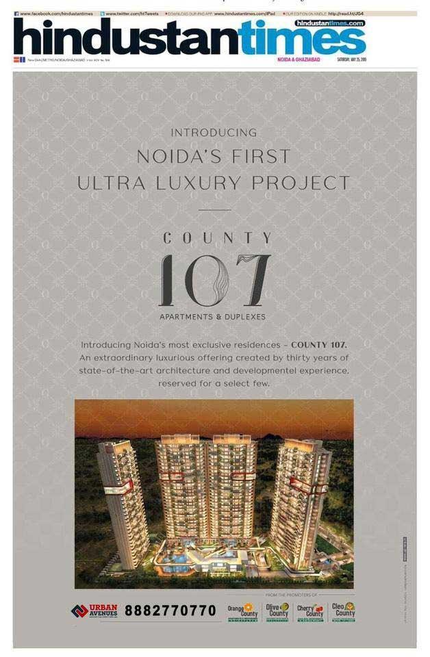 price-list-county107 noida